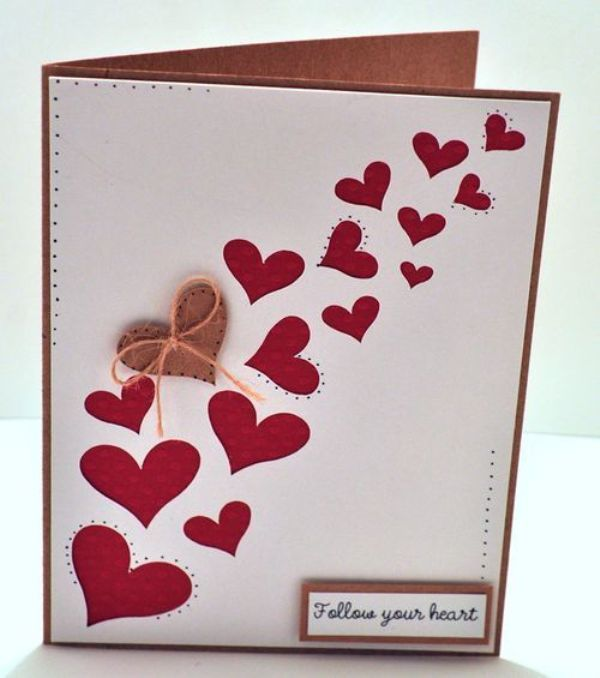 Charming Creative Card Making Ideas For Valentines Day Part - 6: DIY Valentines Cards Handmade Valentine S Day Cards - DIY Refashion 2015 -  2016