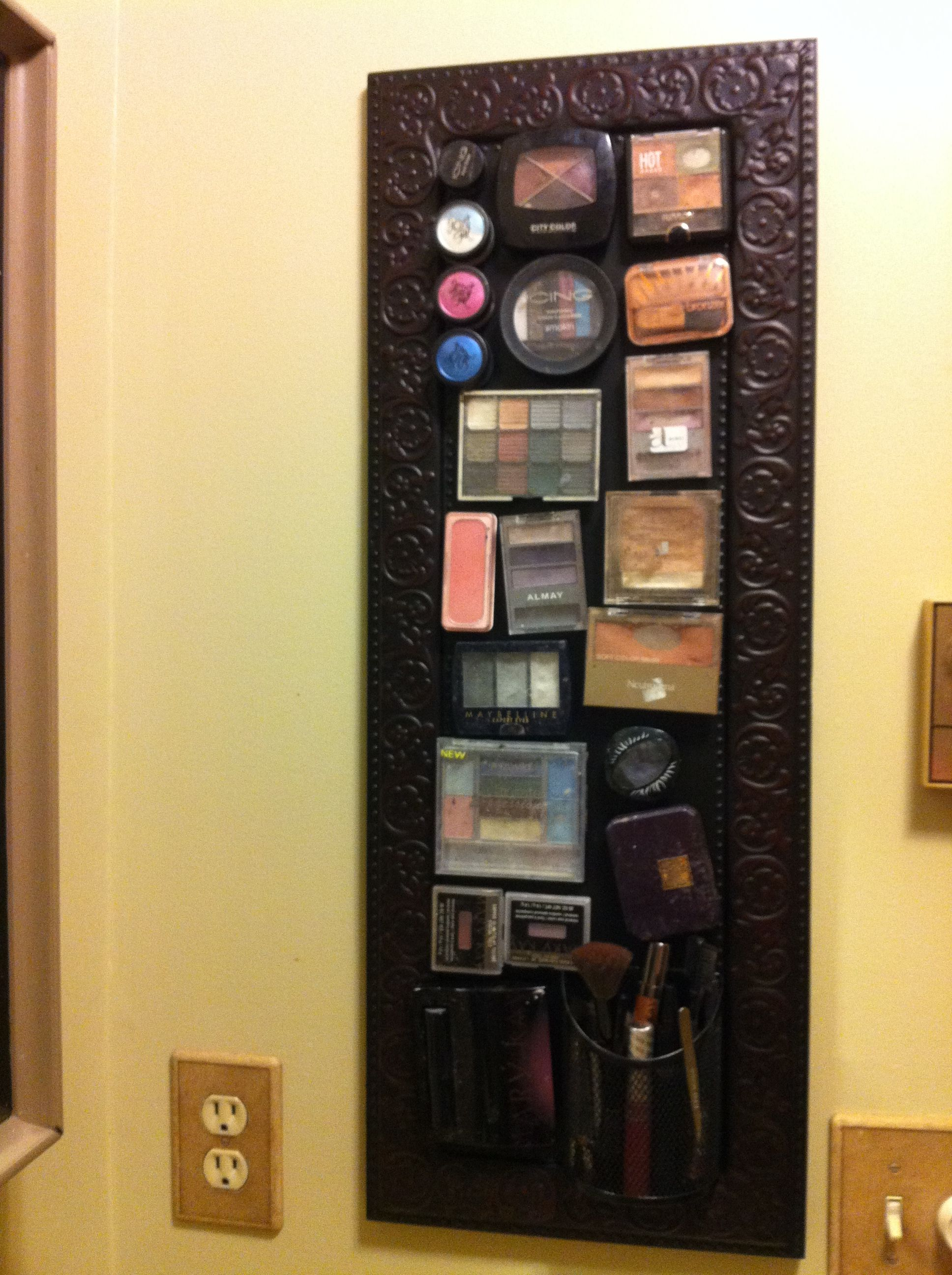 Magnetic makeup board! Metal Sign Board from Hobby Lobby - Medium ...
