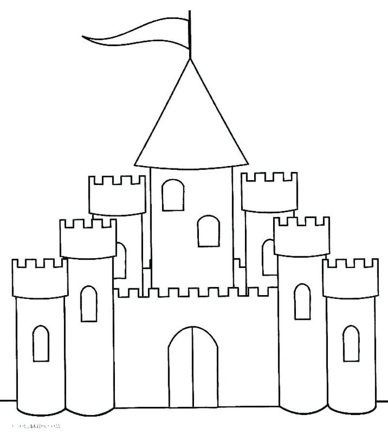 Very Cool Castle Coloring Pages Collection Castle Coloring Page