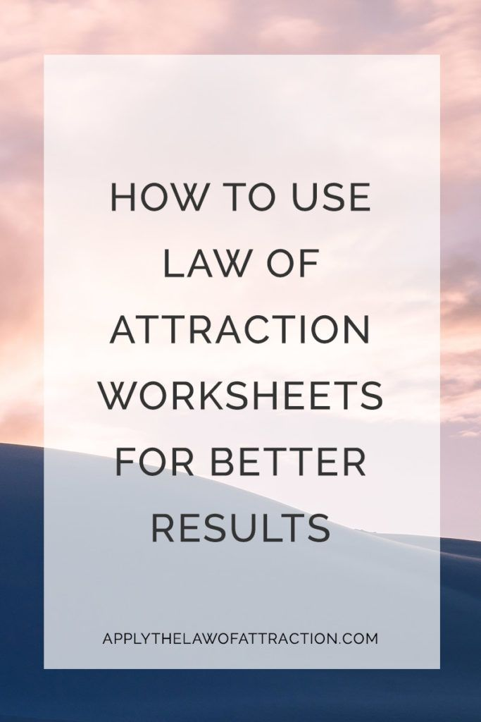Free Law Of Attraction Pdf Worksheets Download Print Learn