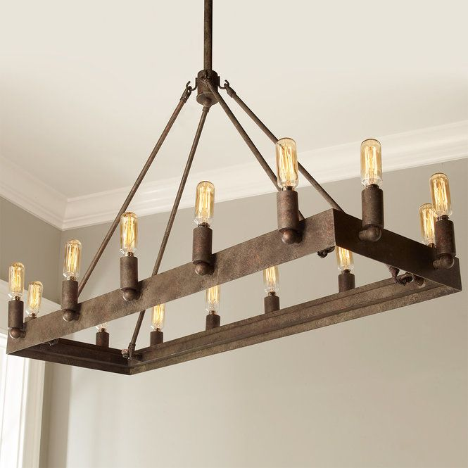 Urban Loft Industrial Rectangular Chandelier Rectangular Chandelier Industrial Farmhouse Lighting Urban Loft