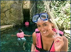 Xcaret caves, from cancun