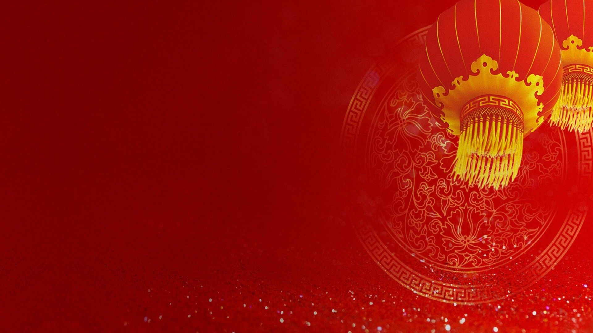 Chinese New Year Background For Free In Red And Gold Color
