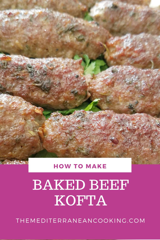 Egyptian Baked Beef Kofta The Mediterranean Cooking Recipe In 2020 Beef Kofta Recipe Kofta Kebab Recipe Kofta Recipe