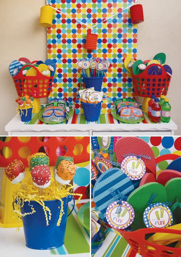 Pool Party Favors Ideas diy party favors i made these for my boys swimming birthday party the kids Poolpartydecorationsforkids Party Invitations These Pool Party Invites Give Guests A Pool Side Pool Party Pinterest