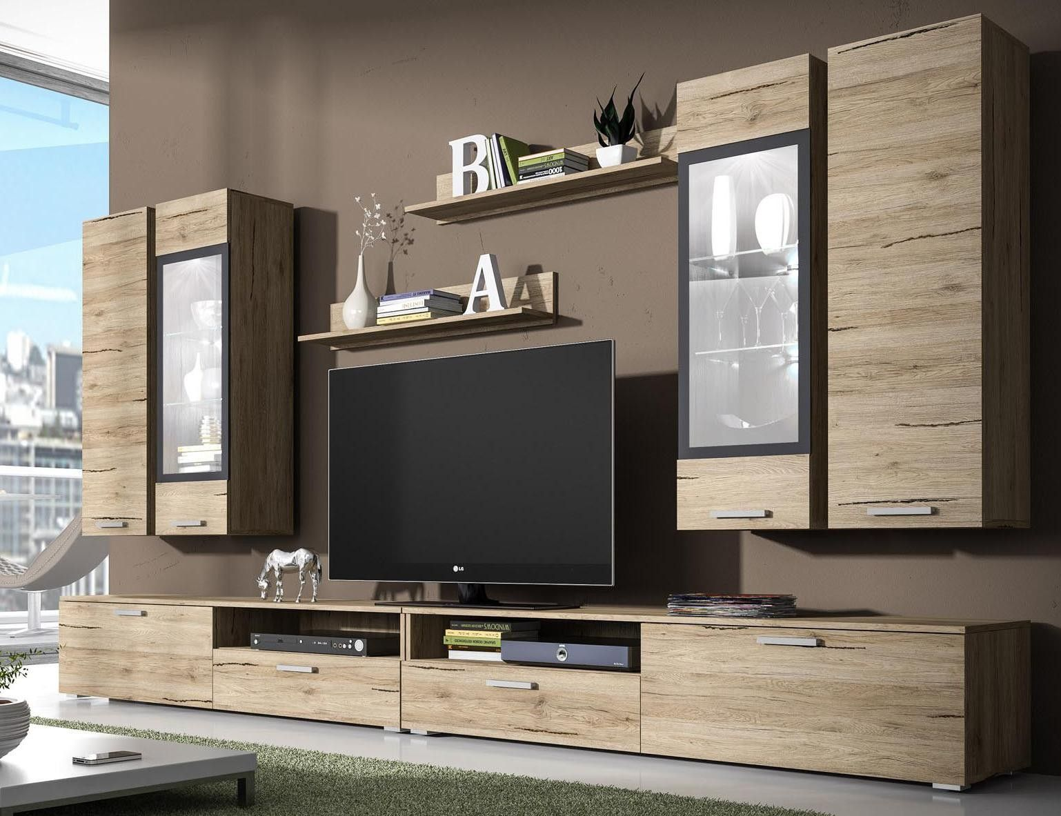 Ensemble Meuble Tv Mural Nova Meuble Tv Design Pas Cher  # Long Meuble Tv Design
