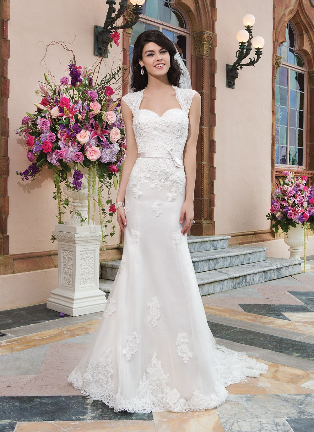 Sincerity brautkleid style 3821 Tulle, alencon lace fit and flare ...