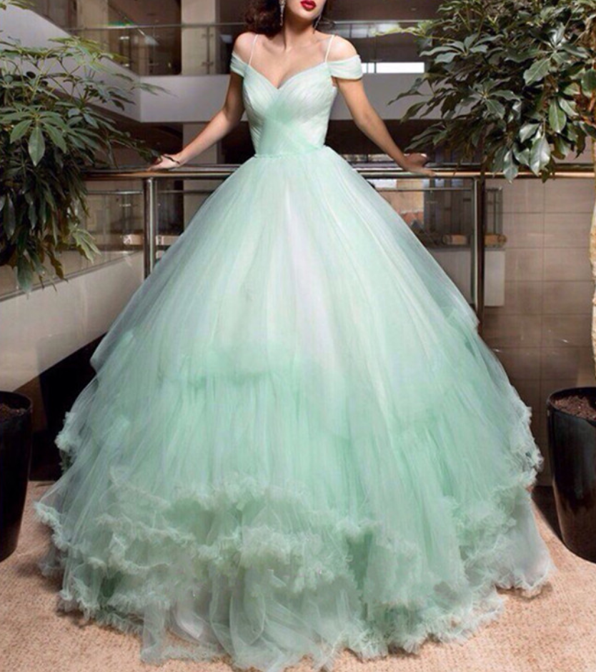 Wedding Dress,Mint Green Wedding Dress, Princess Wedding Dress ...