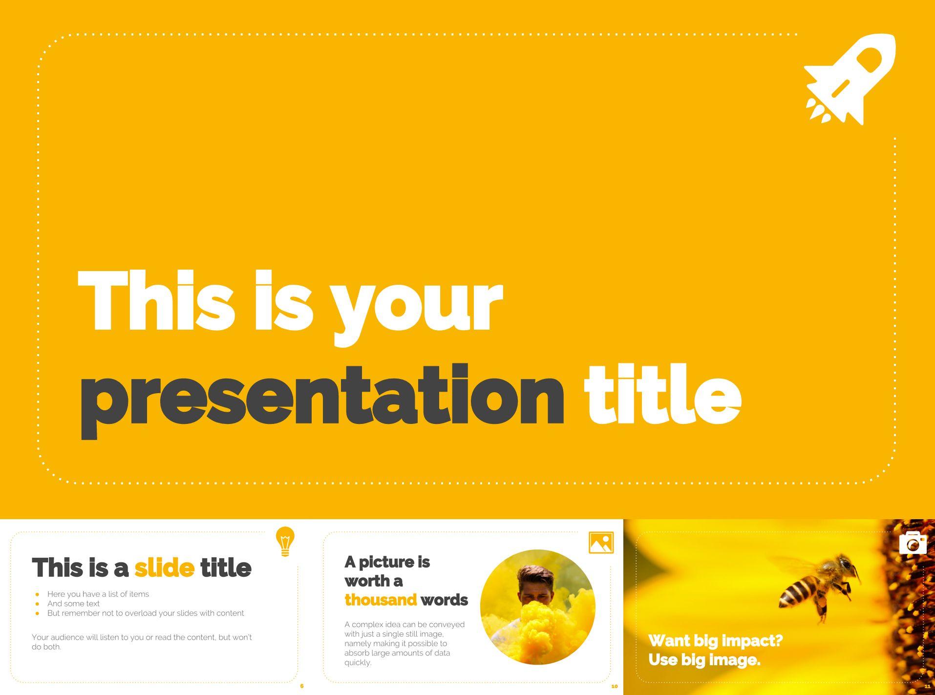 Mẫu slide màu vàng sáng hoàn toàn miễn phí