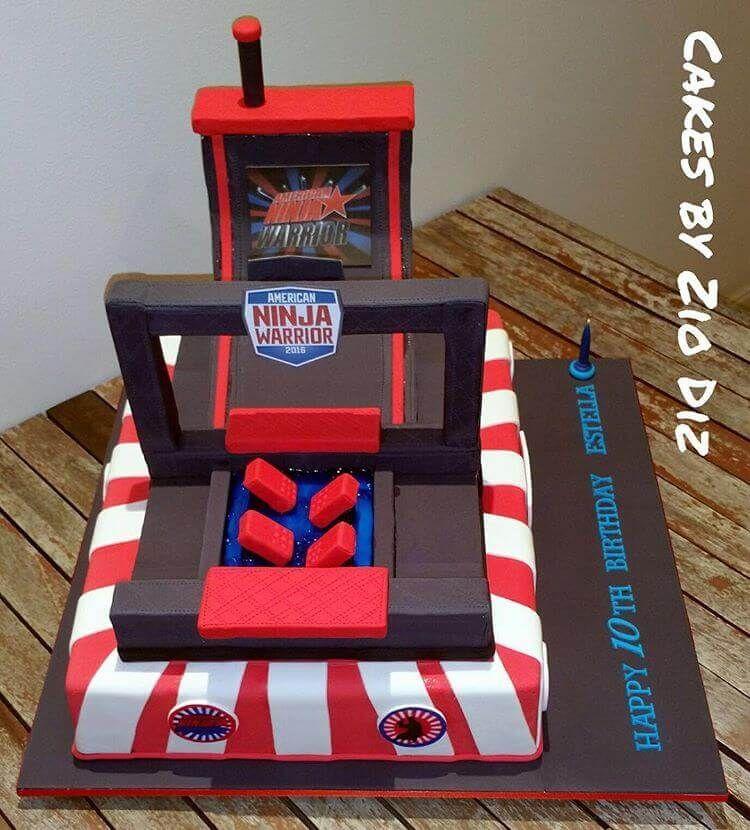American Ninja Warrior Cake American Ninja Warrior Party