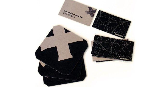 Corsario business card and coaster