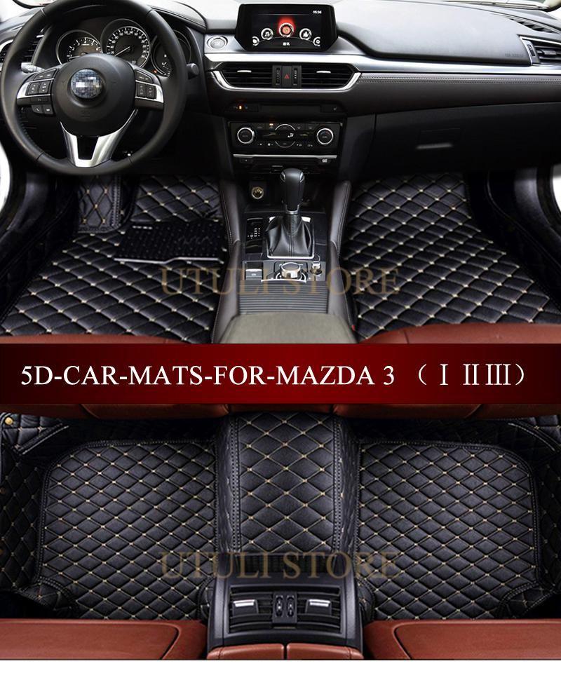 Leather Car Floor Mats For Mazda3 Generation Axela 4door 5door Hatchback Sedan 5d Waterproof Custom Fit Car Foot Mats Volkswagen Phaeton Car Floor Mats Fit Car