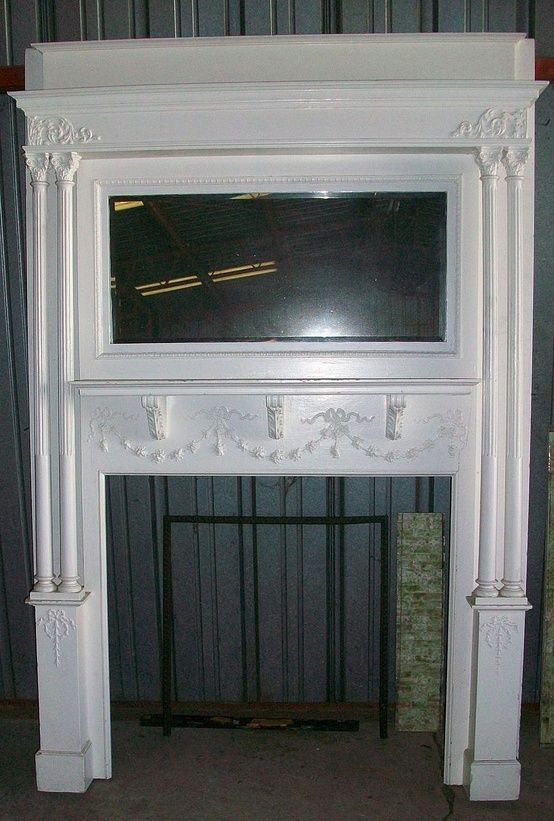 Fantastic Victorian Fireplace Mantle Mantel Tile Beveled Mirror Home Interior And Landscaping Ferensignezvosmurscom