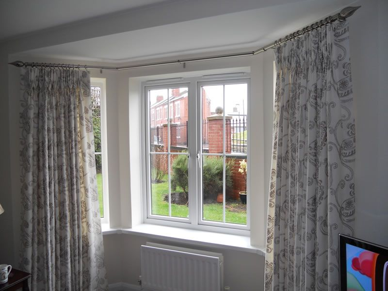 Bay Window Curtain Pole For Eyelet Curtains Bay Window