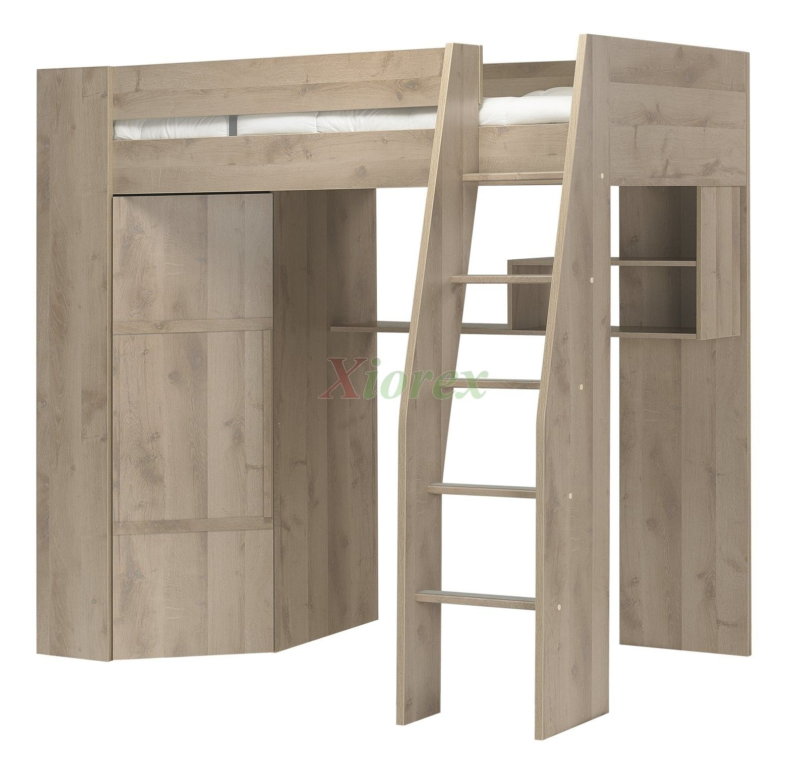 Best This Beautiful Loft Bed With A Closet Underneath Comes 400 x 300
