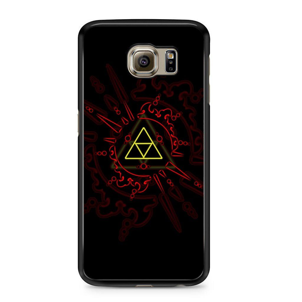 Zelda Triforce Red Symbol For Samsung Galaxy S6 Case
