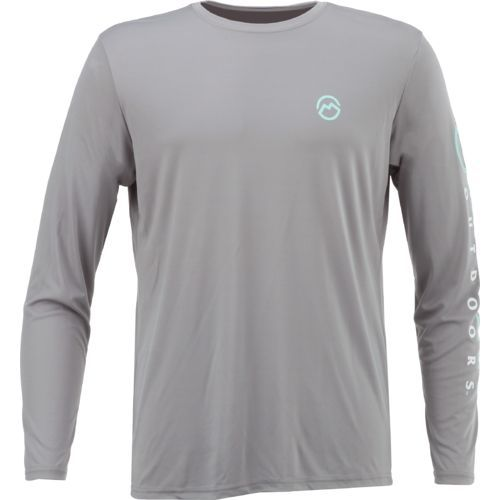 4fd3329efb5 The Magellan Outdoors™ Men s Casting Crew Moisture Management Long Sleeve T- shirt is made of 100% polyester and features a Magellan Outdoors™ logo.