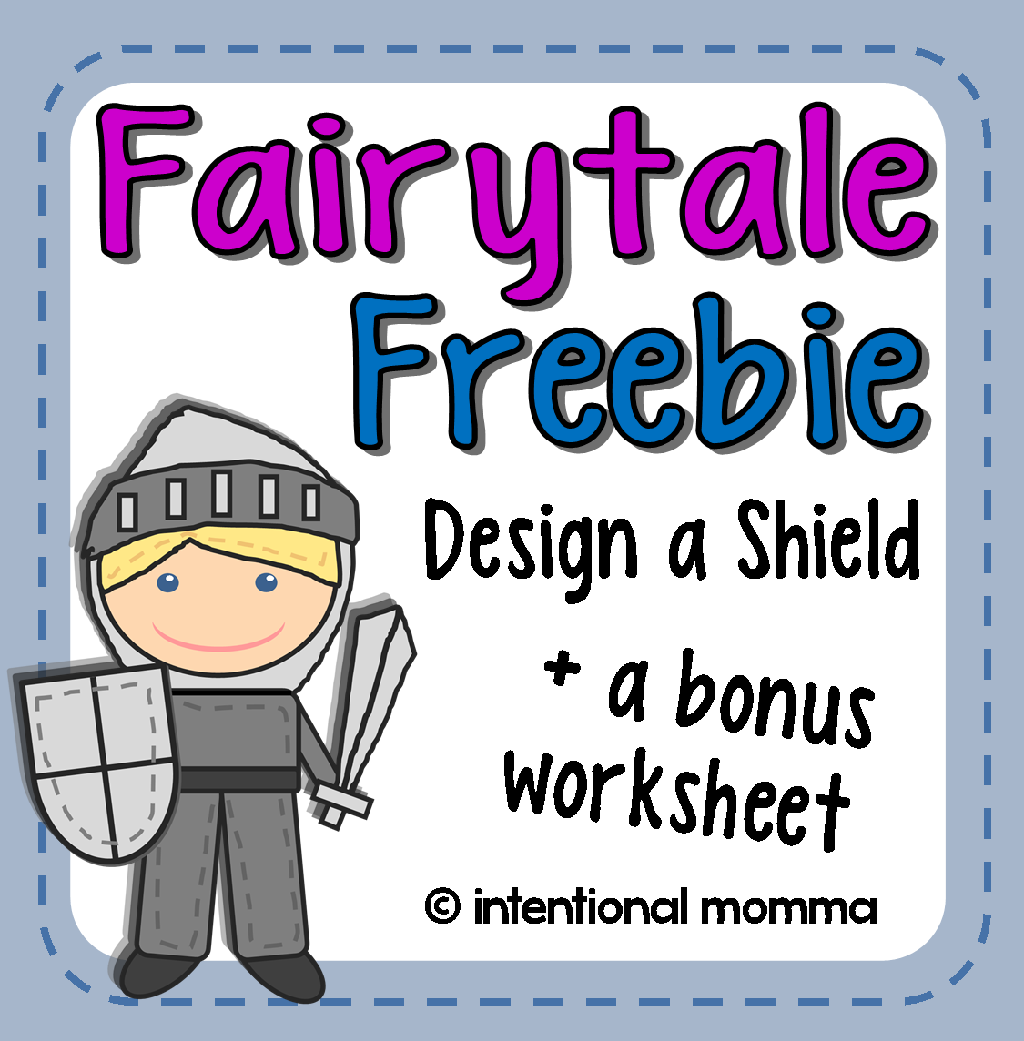 Fairytale Freebie Free Printable Shield Worksheets For