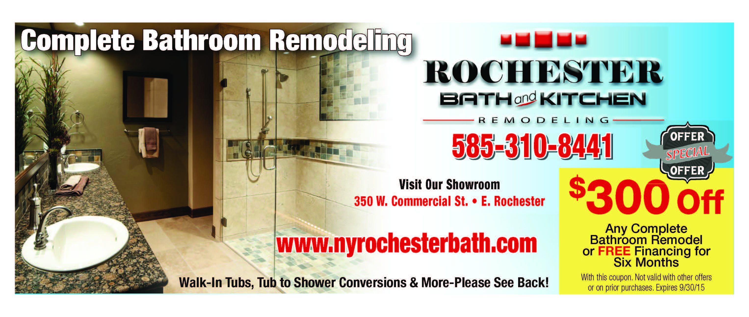 Rochester Bath And Kitchen Remodeling Coupons And Specials.  Www.nyrochesterbath.com East Rochester