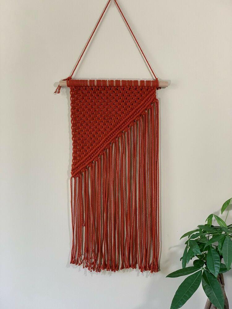 Handmade Macrame Wall Hanging Woven Art Macrame Tapestry Boho Home Decor Indian
