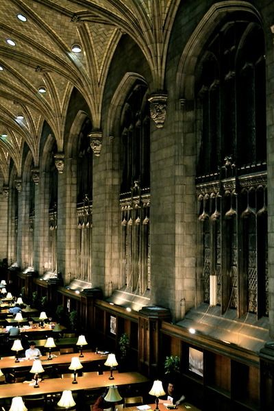 Private Library Study Rooms: Private School, Chicago, Reading Room