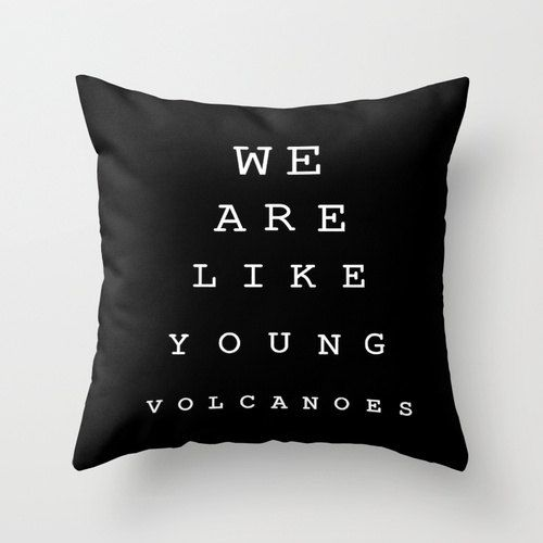 "BLACKFRIDAY code for free shipping. Throw pilow cover personalised with ""We are like YOUNG VOLCANOES"" design Fall Out Boy lyrics"