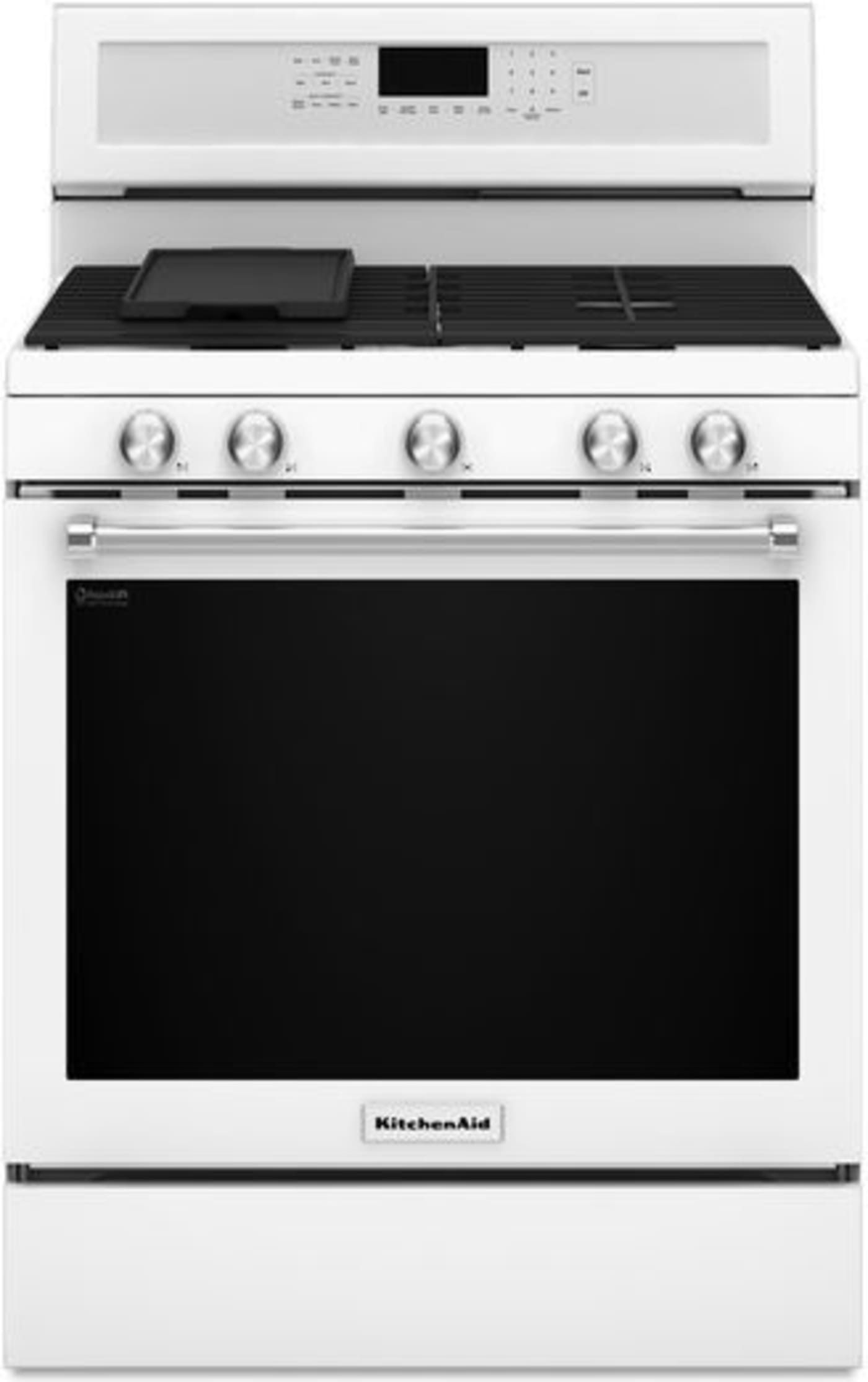 Kfgg500ewh by kitchenaid natural gas ranges goedekers