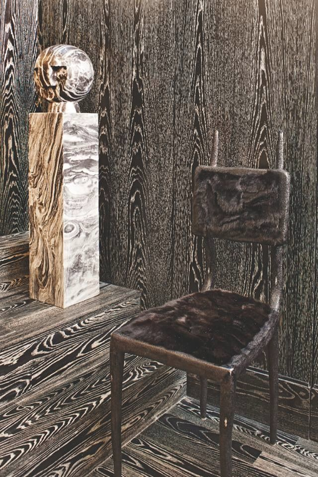 Rock Throne Xk Kellywearstler Blackwood Marble Chair Interiors Residence Furchair Accent Sculpture Decor Kelly Wearstler Cerused Oak