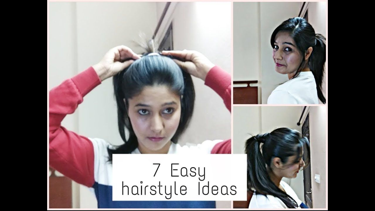 easy u quick hairstyles using clutchers and rubber bands minsha