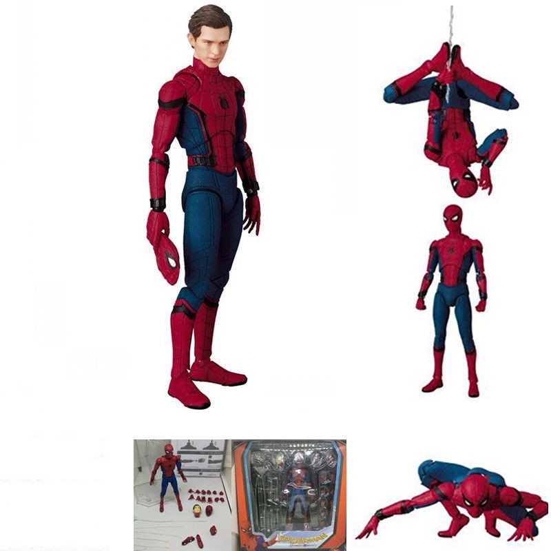 PVC Action Figure Toy New In Box 047 Marvel Spider-Man Homecoming Ver Mafex No
