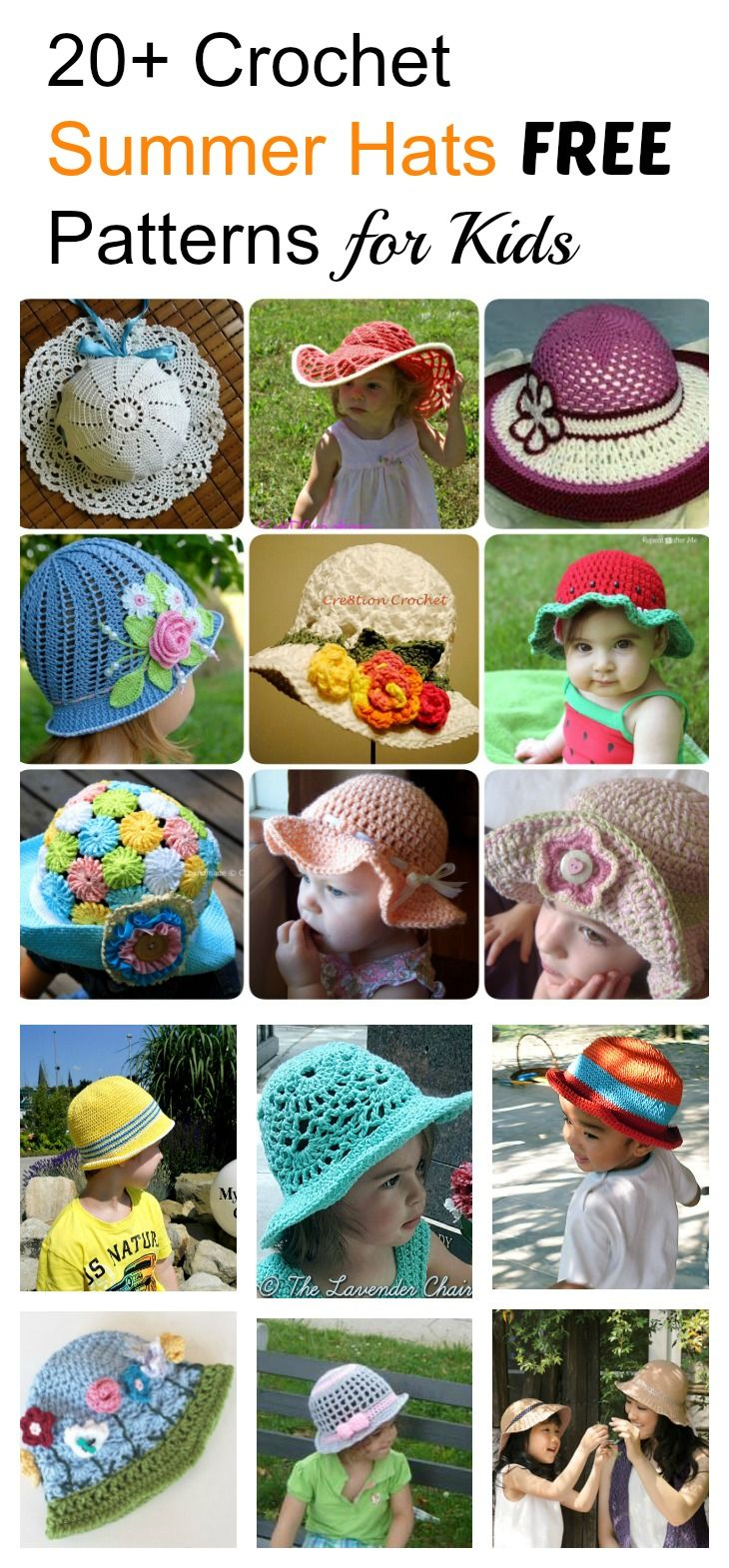 20 crochet hat free patterns for kids crochet summer hats 20 crochet hat free patterns for kids bankloansurffo Choice Image