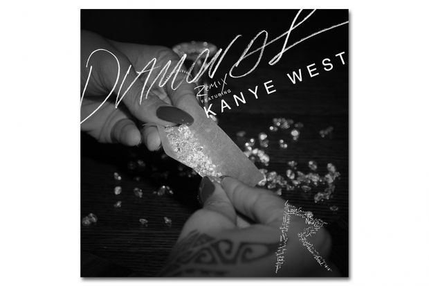 Rihanna Featuring Kanye West Diamonds Remix Rihanna Diamonds Rihanna Song Kanye West Diamonds