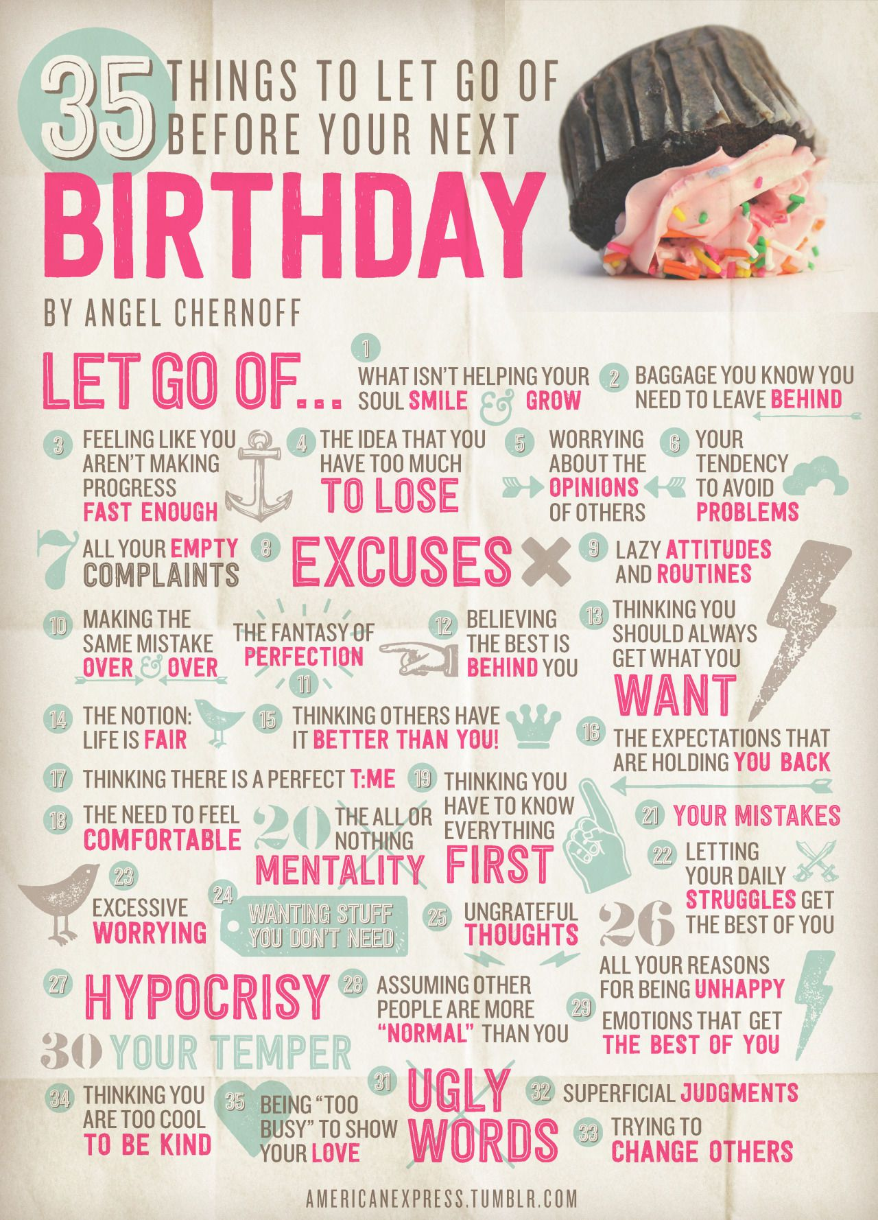 35 Things To Let Go Of Before Your Next Birthday #birthdaymonth