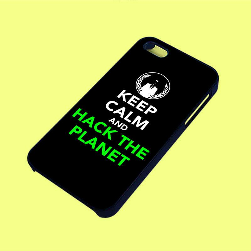 Keep Calm and Hack Planet Phone Case