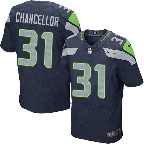 Nike Elite Kam Chancellor Navy Blue Men s Jersey - Seattle Seahawks  31 NFL  Home 7b1068ad5
