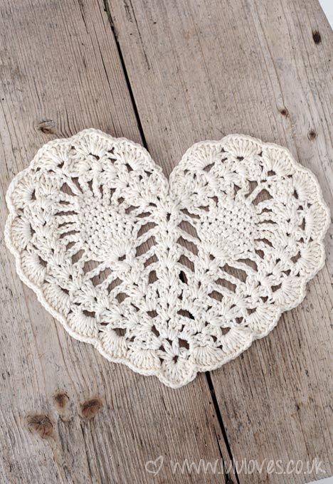 crochet doily corazón de piña | buenas ideas.. | Pinterest | Croché ...