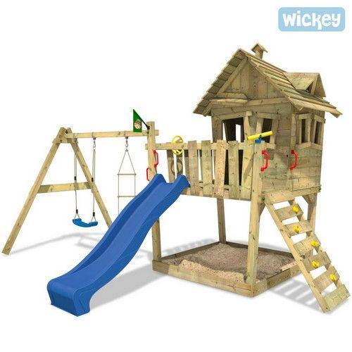 Baumhaus Wickey Funny Farm Spielturm auch mit Doppelschaukel möglich