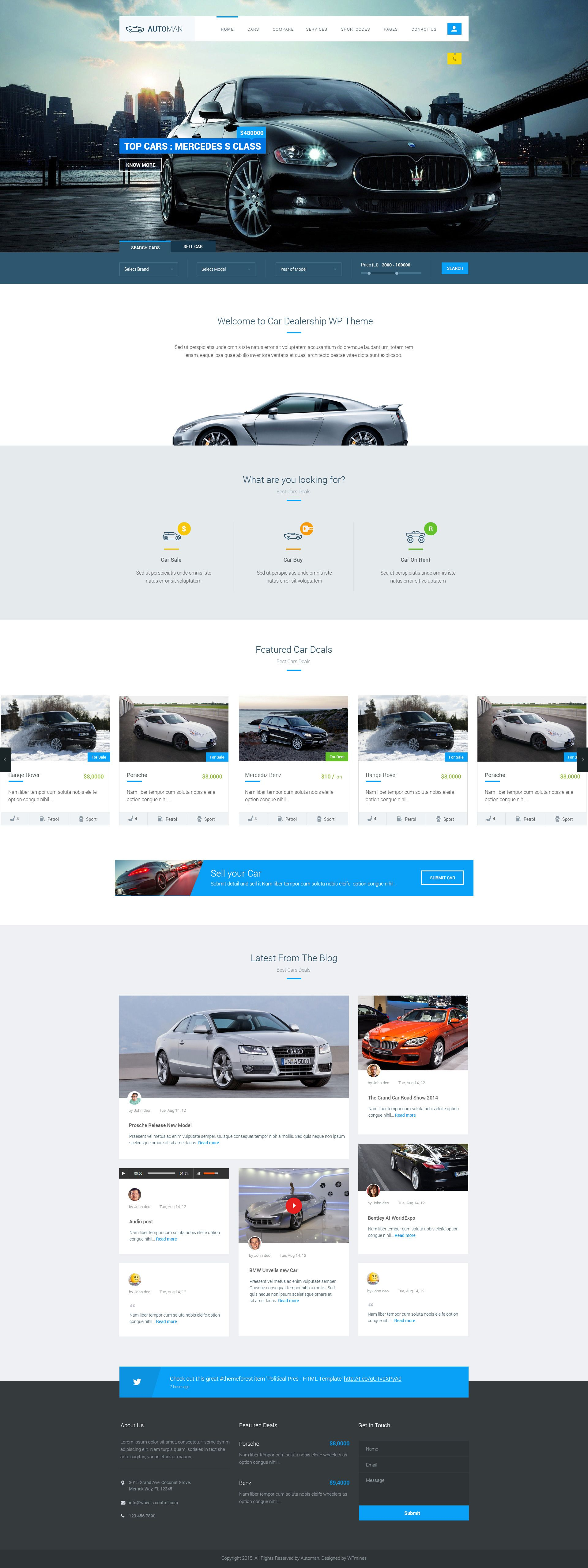 Automan advanced car dealer html template