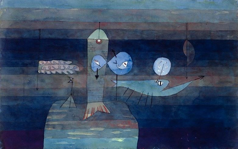 """Cirosata Bolarc* on Twitter: """"Paul Klee, Good place for Fish, 1922…"""