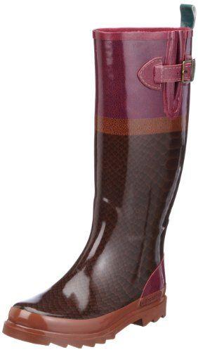 Zapatos de mujer. Giesswein Zirl 58/10/41364 - Botas de agua de caucho para  mujer, color rojo