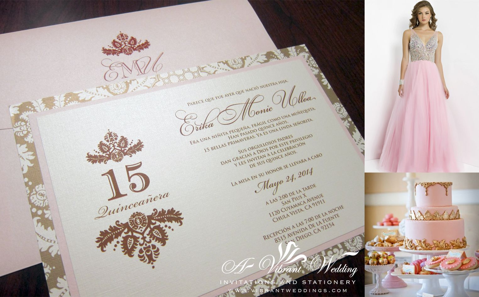 Quinceanera Invitation Cards Gallery Photos | my 15 | Pinterest ...