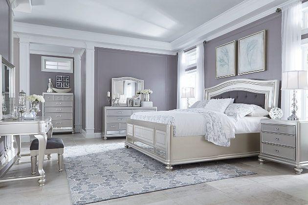Coralayne Dresser Luxurious Bedrooms Silver Bedroom Remodel Bedroom