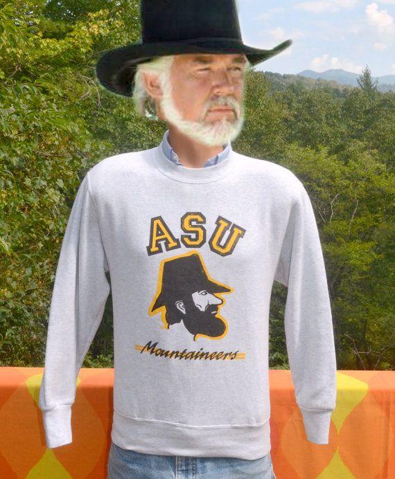 Vintage 90s Sweatshirt Appalachian State University Asu Mountaineers