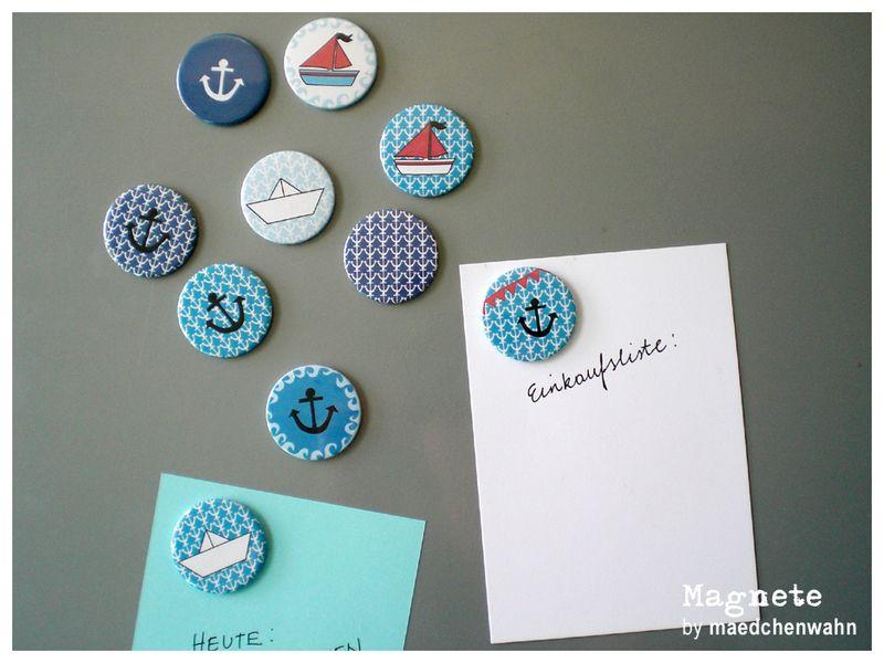 Kühlschrank Einkaufsliste Magnet : Magnet sticker pin *maedchenwahn magnete* *ahoi matrose
