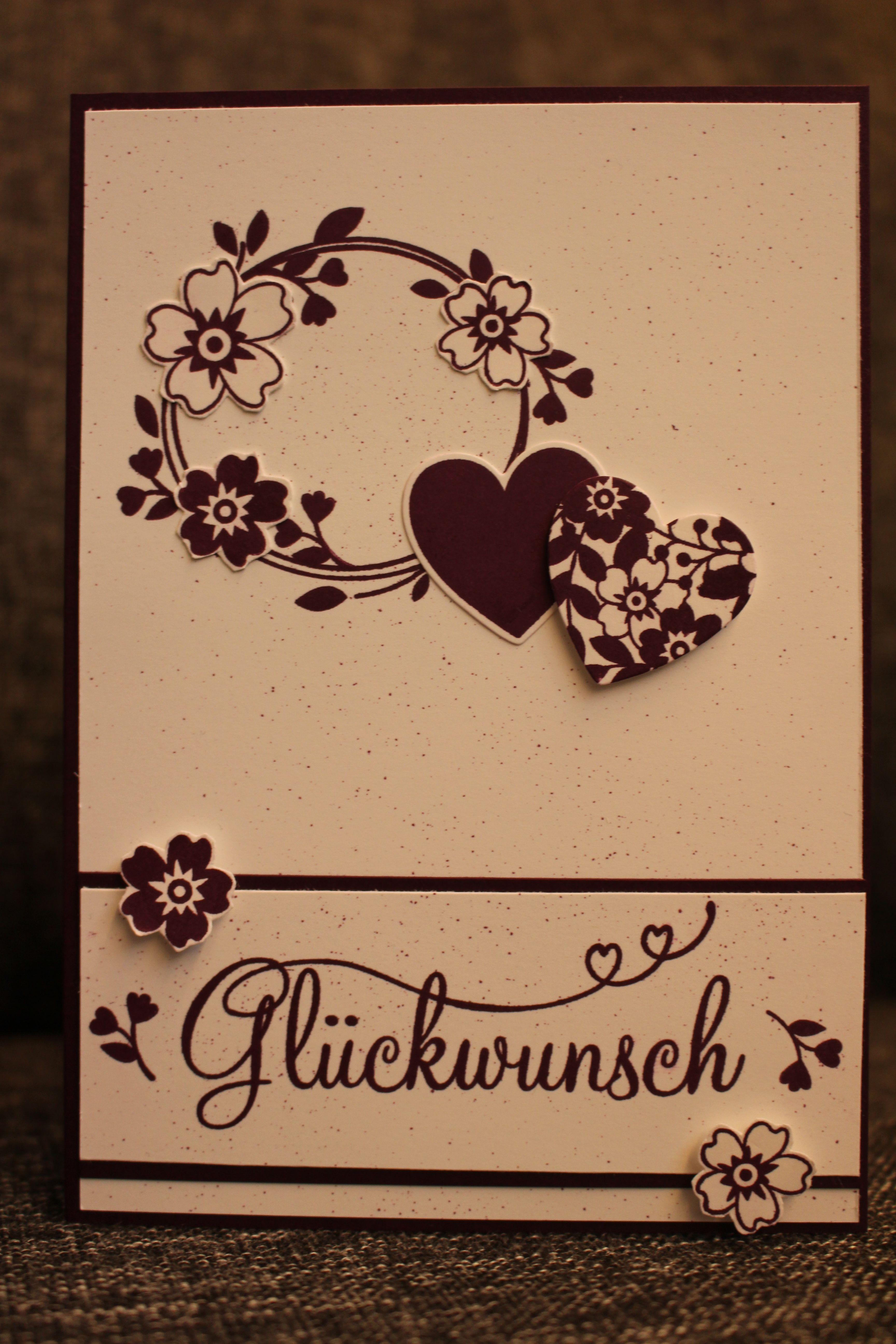 Geburtstagskarte bl ten der liebe perfekter tag stampin for Pinterest geburtstagskarte