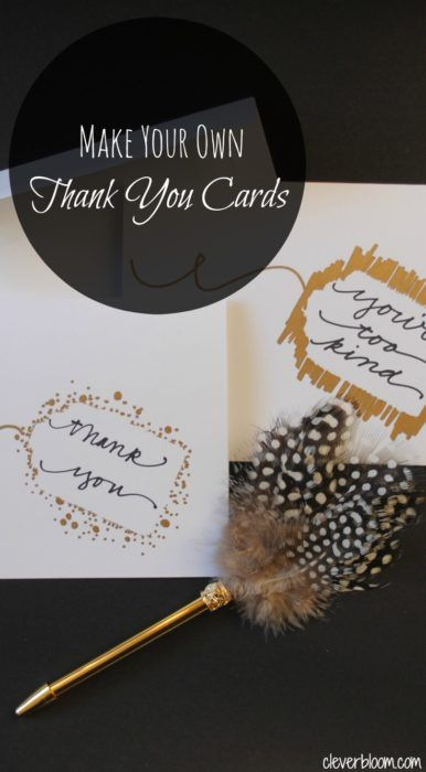 Make Your Own Thank You Cards Watercolor cards, Clever and Crafty