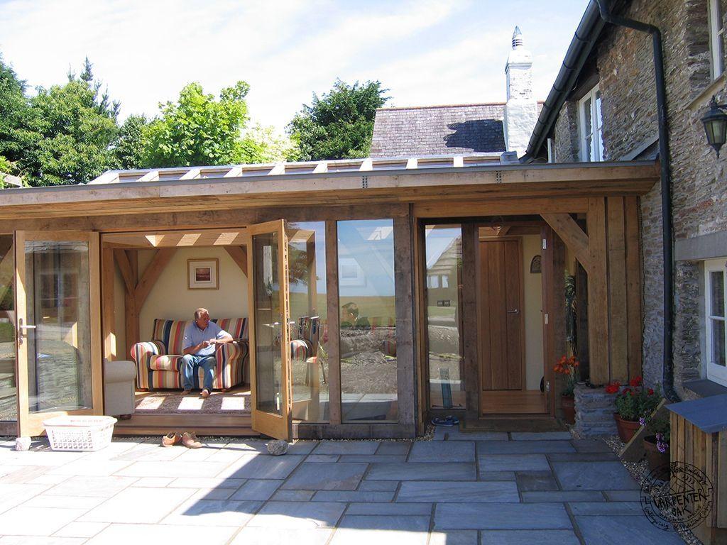Oak Frame Flat Roof Google Search Patia Werandy Tarasy