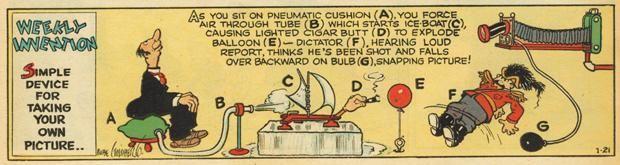 8 Excellent Rube Goldberg Cartoons | Mental Floss