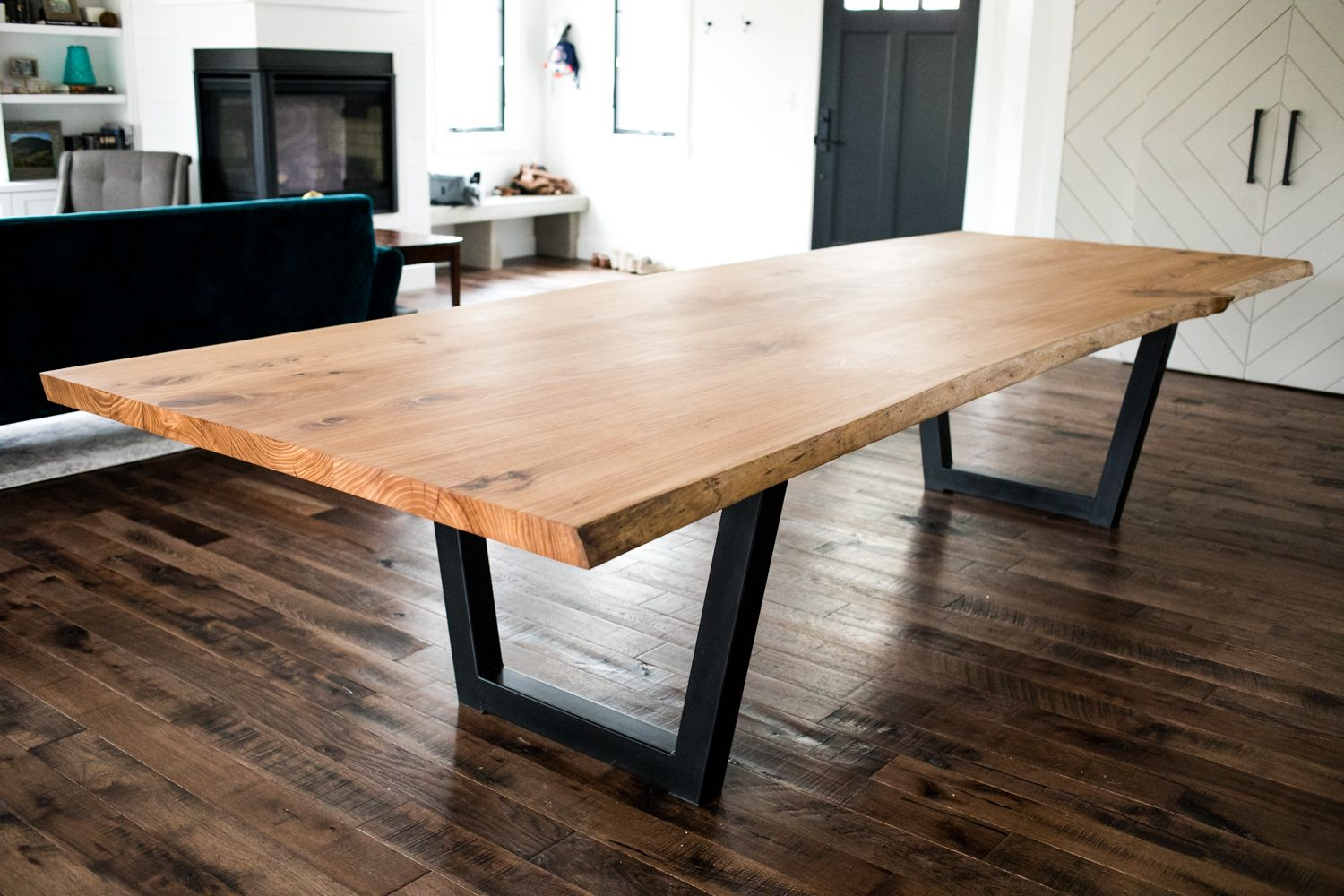 Large Custom Conference Table Live Edge Dining Table Slab