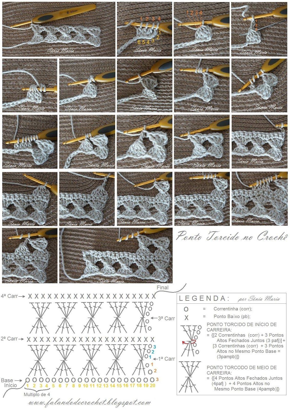 FALANDO DE CROCHET: PONTO DE CROCHE TORCIDO (Crochet Twist Stitch ...